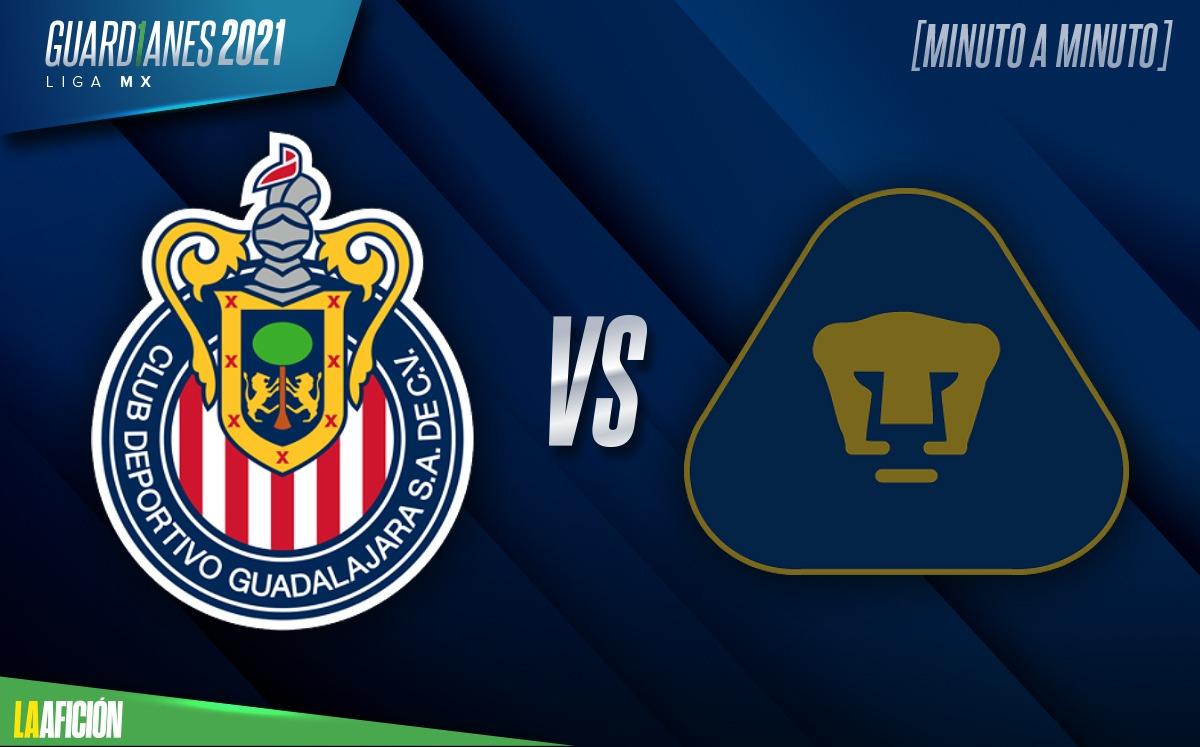 Chivas vs Pumas, Liga MX jornada 8 (2-1): GOLES Y RESULTADO