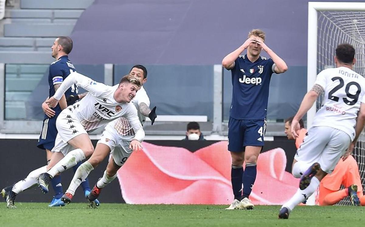 La Juventus cae frente al Benevento (0-1) y dice adiós al Scudetto