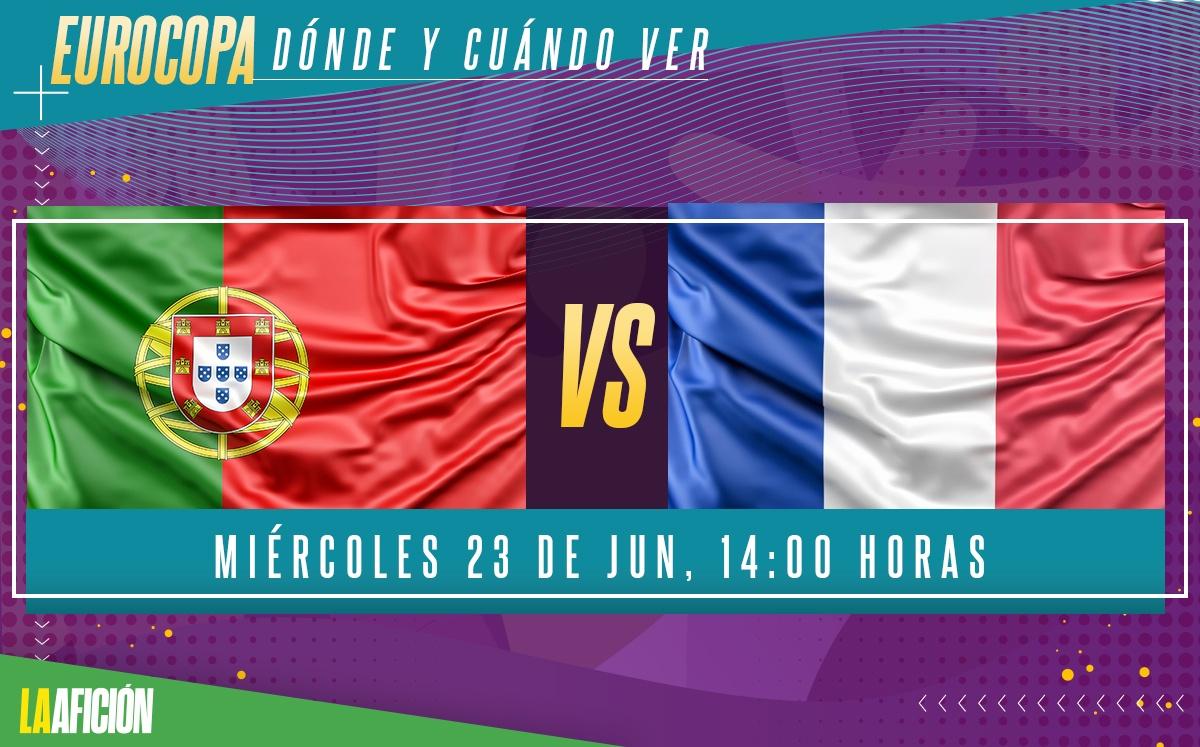 Dónde VER Portugal vs Francia - Eurocopa 2021