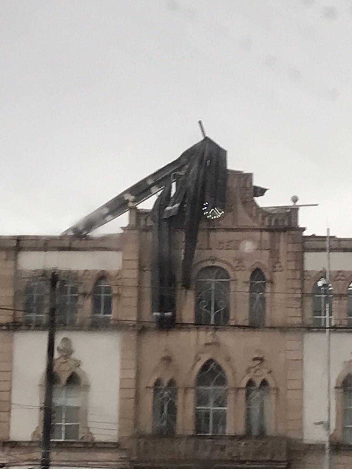 Caída de techos de lámina