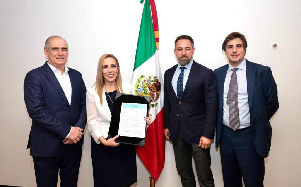 Senadores del PAN que se reunieron con Santiago Abascal, líder de VOX