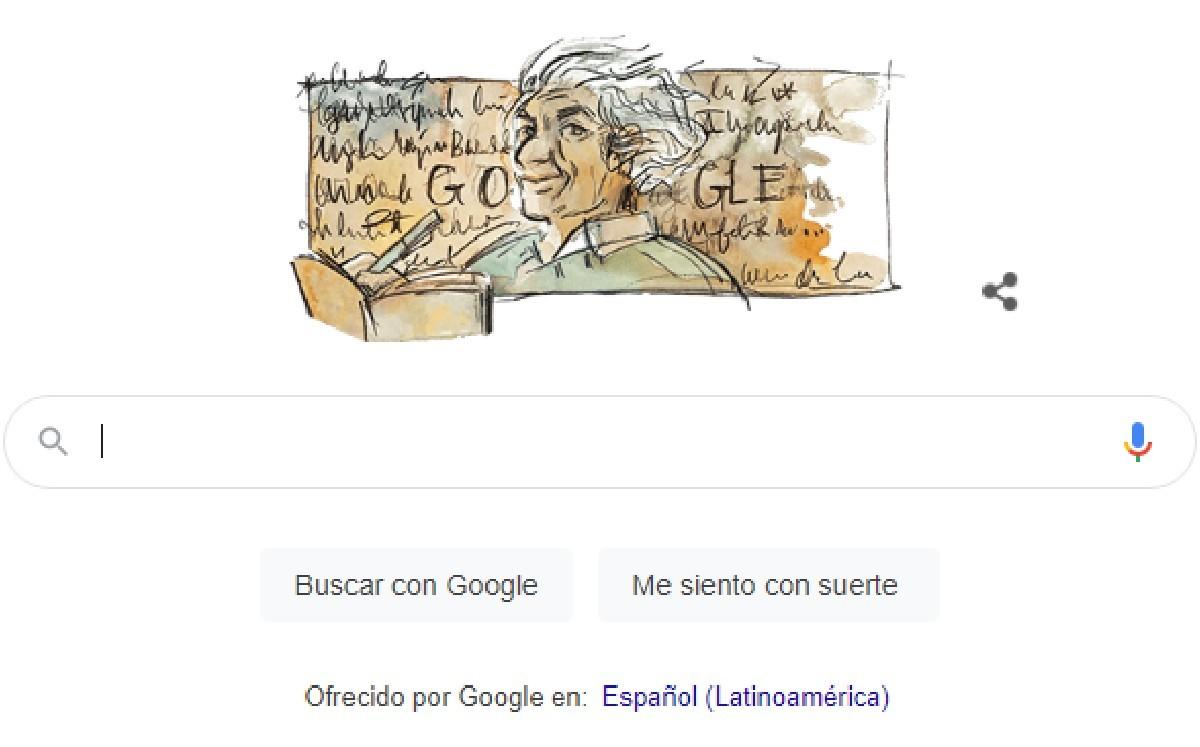 Google dedica doodle a Nicanor Parra, el antipoeta chileno